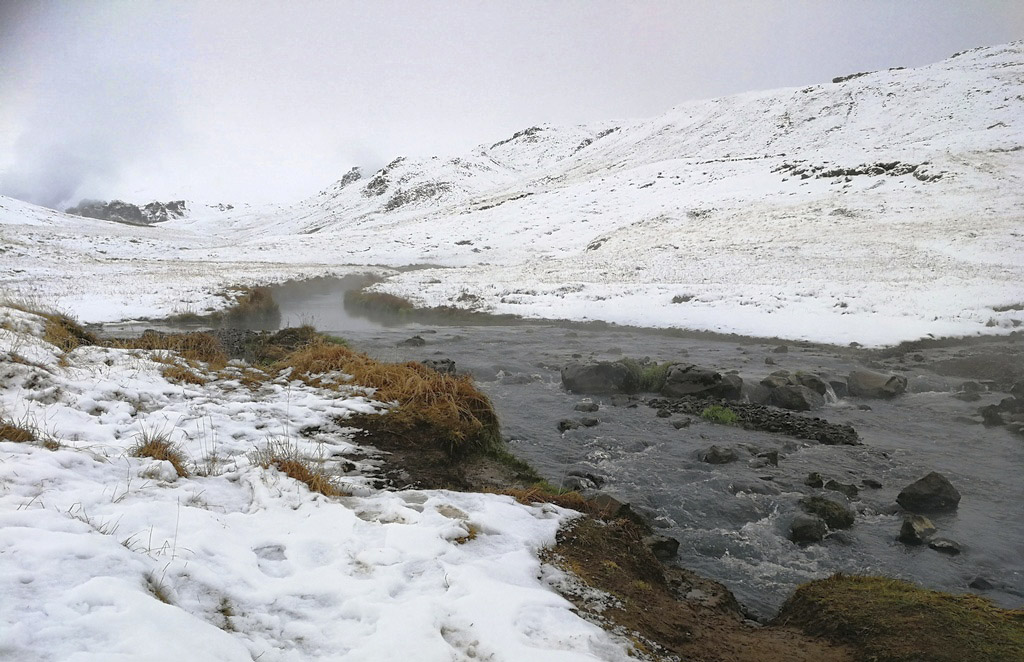 Das Reykjadalur im Winter