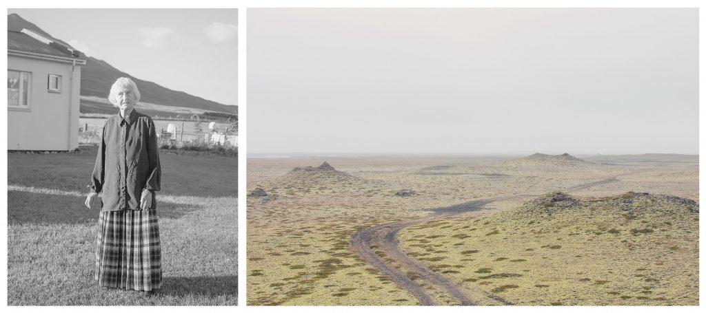 Deutsche Einwanderin Island Landschaft