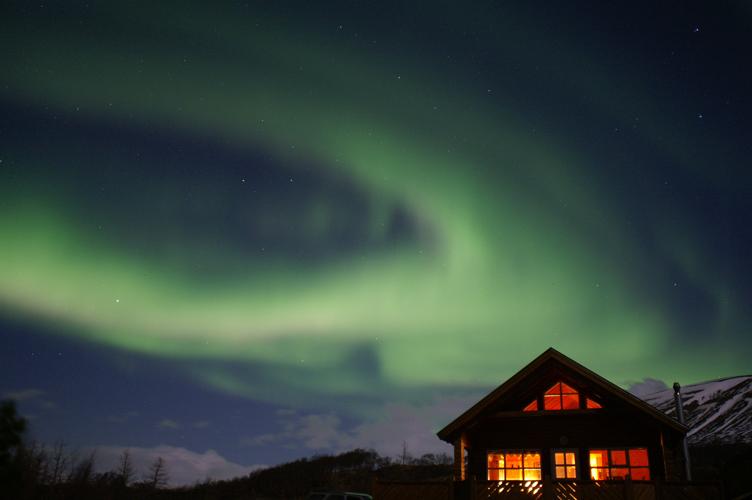 Ferienhaus unter Nordlicht