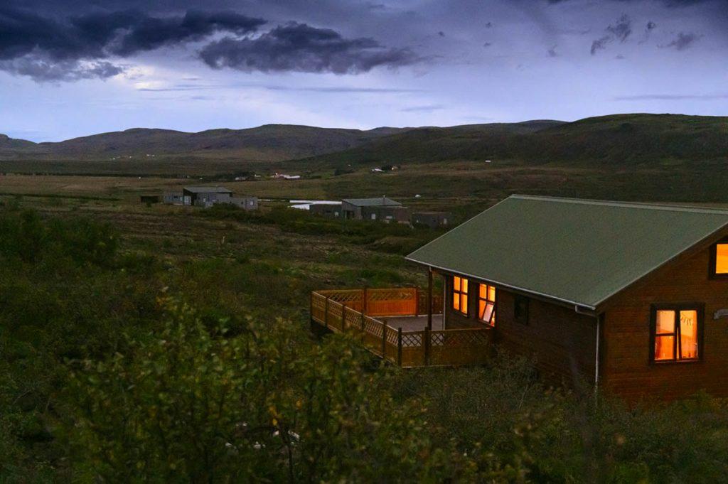 Abendstimmung, Ferienhaus Óskasteinn, Island