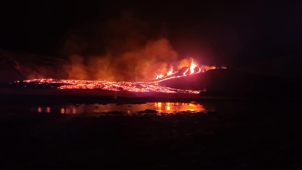 Eruption Fagradalsfjall in Island