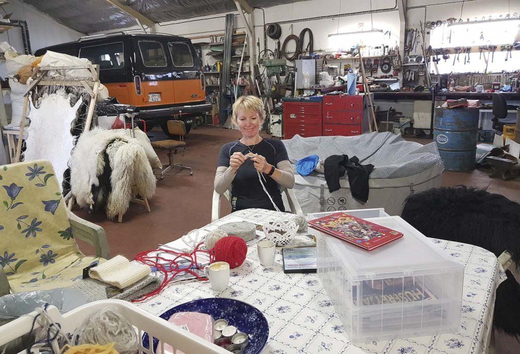 Stricken Workshop in der Garage von Kidda