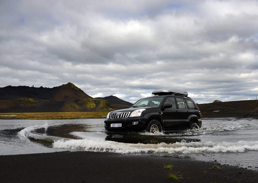 Flussdurchquerung, Hochland, Island