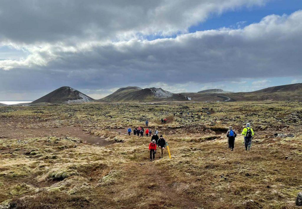 Island Weg zum Vulkanausbruch