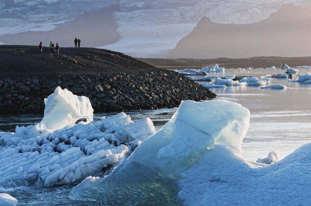 Eisberge an der gletschrlagune Jökulsarlón