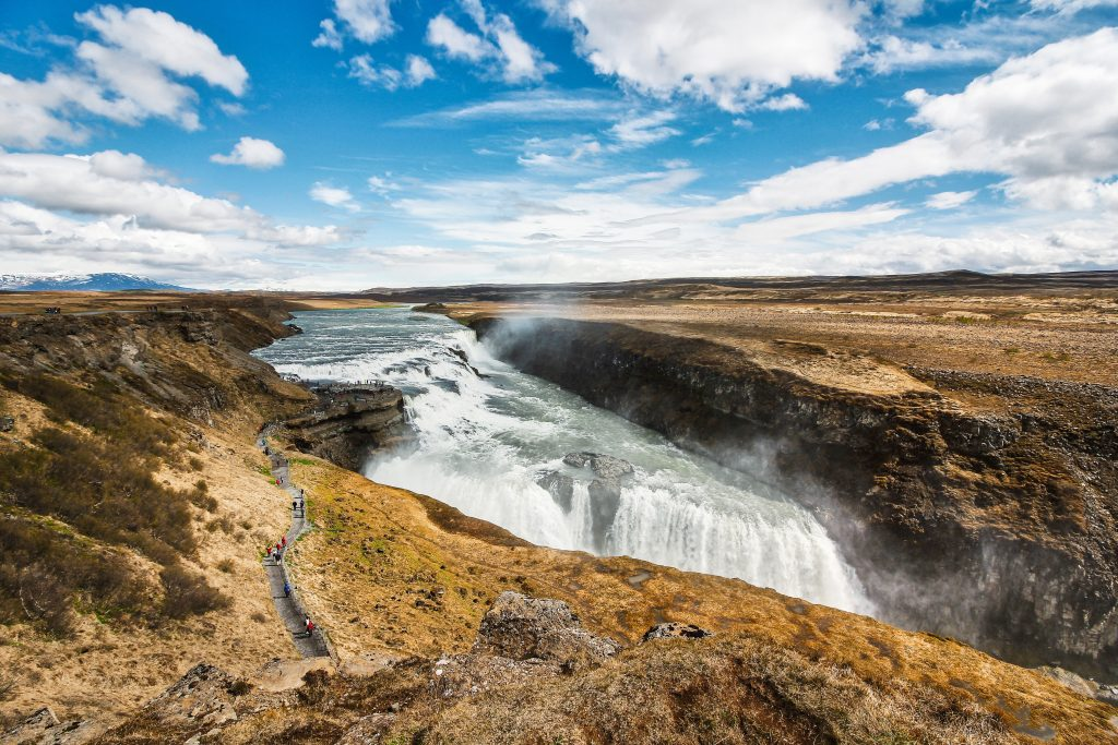 Highlight in Island: Der goldene Wasserfall Gullfoss