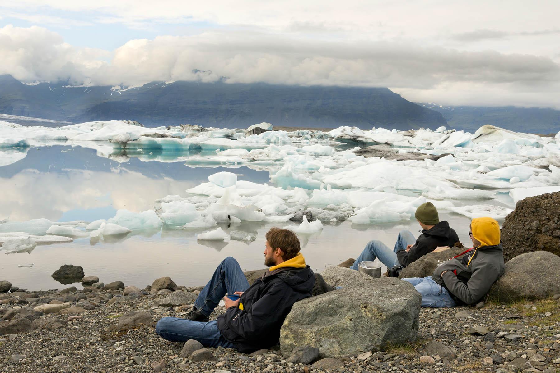 Picknick an der Gletscherlagune Jökulsarlón
