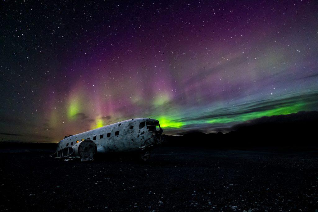 Wenn der Himmel leuchtet: Bunte Polarlichter in Island