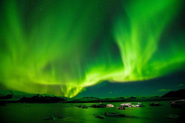 Tanzende Polarlichter