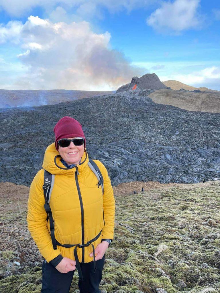 Heida auf dem Weg zum Vulkanausbruch Island