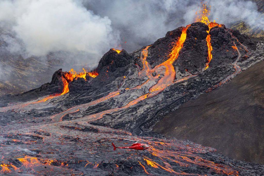 Vulkanausbruch Lava Geldingadalir Fagradallsfjall island