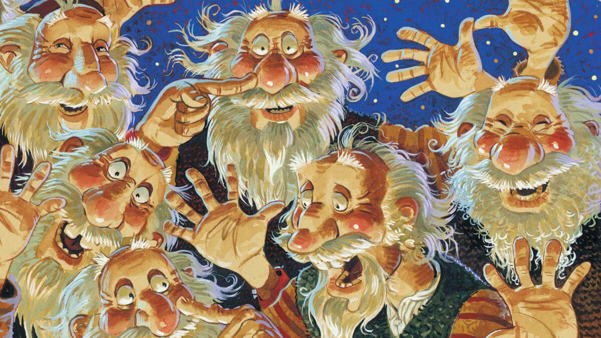 """Ausschnitt vom Buch-Cover """"Die 13 Weihnachtsmänner Islands"""""""
