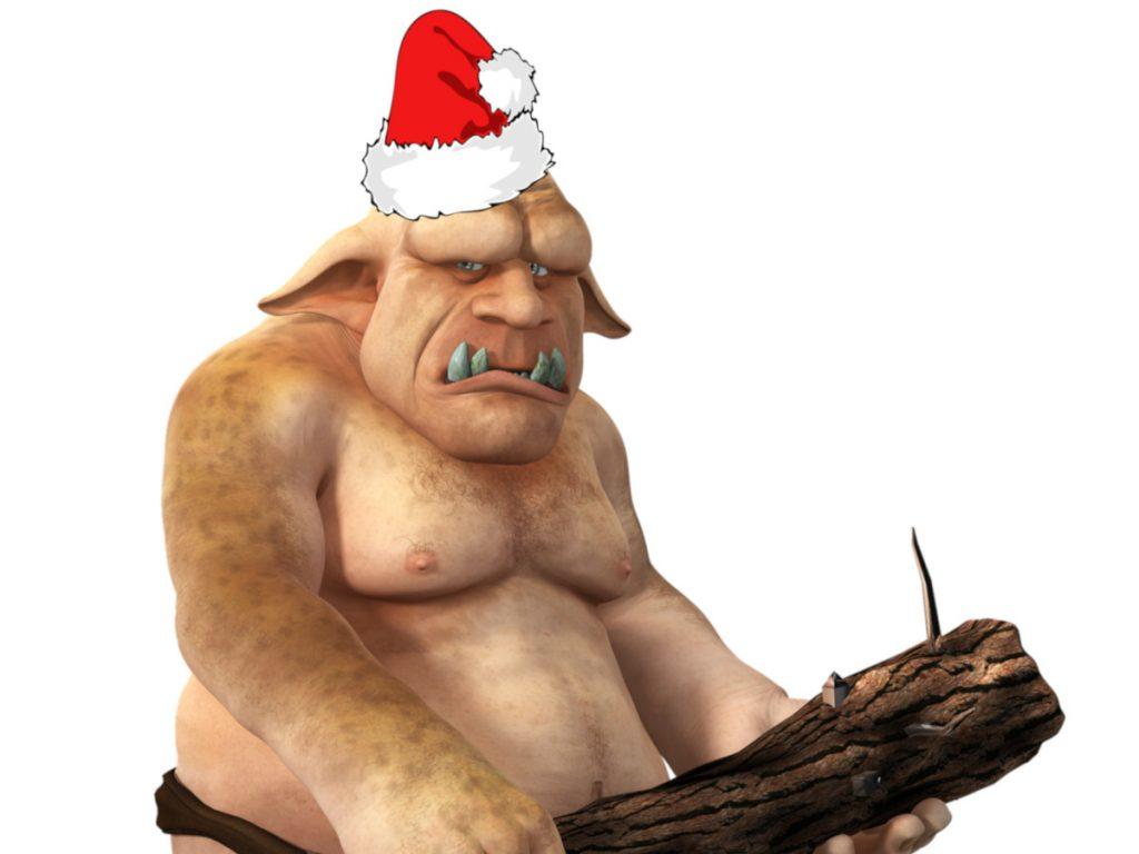 Island Weihnachtsgeselle - ein Troll mit Nikolaus-Mütze