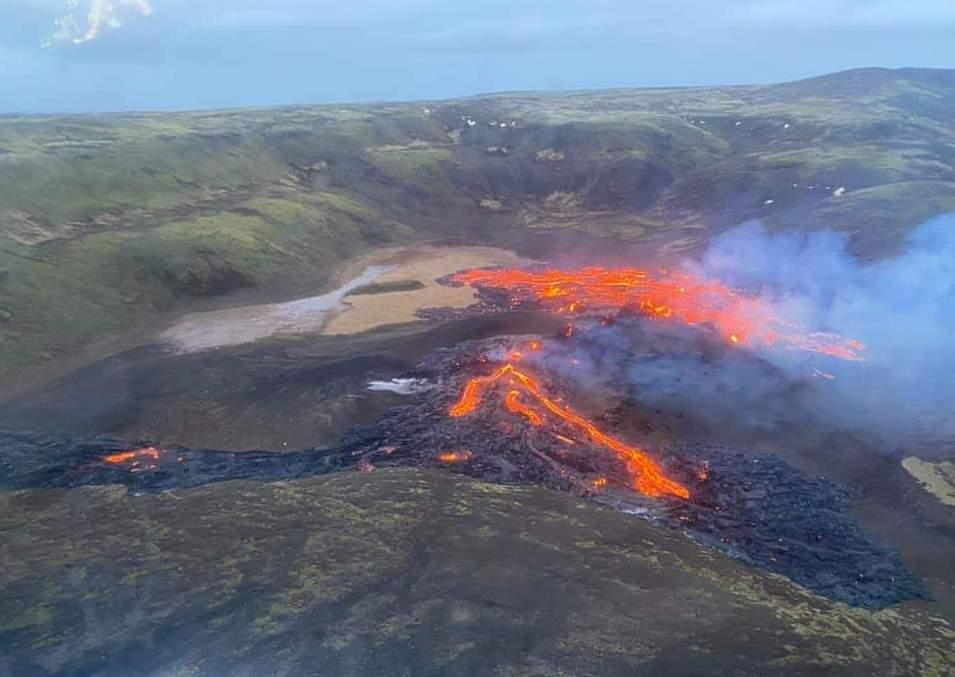 Lava Eruption in Island Fagradalsfjall