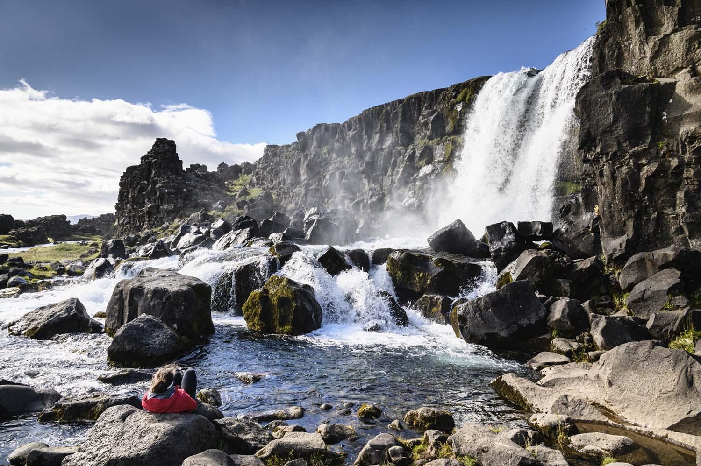 Wasserfall Öxarárfoss, Þingvellir Nationalpark
