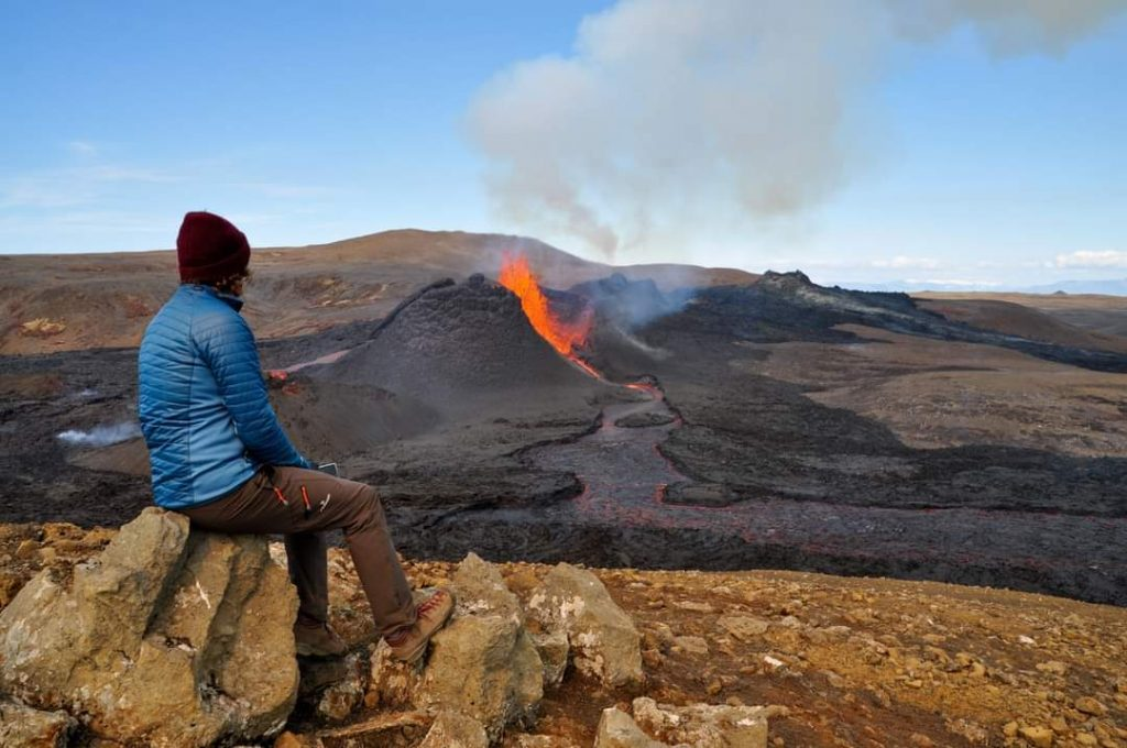 Vulkan in Island bei Fagradallsfjall