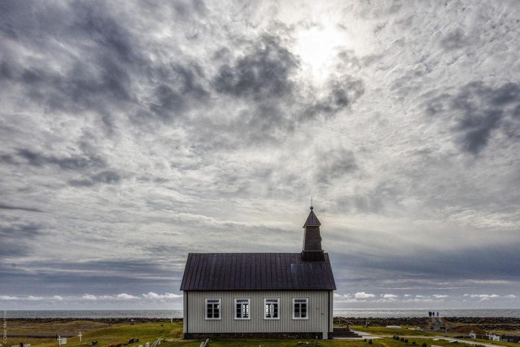 Strandarkirkja, Kirche, Meer, Islandzauber
